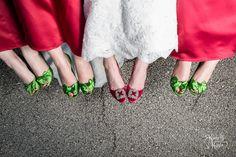 Wedding details! Love the shoes ladies! #kimberlykundaphotography #kkp #weddingphotography #bridesmaids #cutebridalshoes