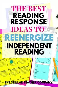 Are you looking for some ways to liven up independent reading? I have the best reading response activities to help reenergize your independent reading! These ideas are great for 3rd grade, 4th grade and 5th grade reading instruction and will help your students reading comprehension improve! Reading Response Activities, Reading Comprehension Strategies, Reading Resources, Help Teaching, Teaching Reading, Guided Reading, Teaching Ideas, 5th Grade Reading, Student Reading