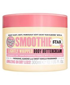 Soap and Glory Smoothie Star Body Buttercream - great for dry skin, and smells like Battenburg cake!