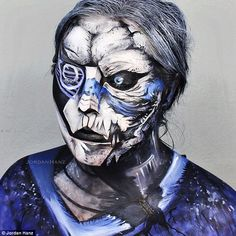 This character is Garrus Vakarian from the Mass Effect video game series, and Jordan wrote: 'I decided to take a more artistic approach to his realistic detail'