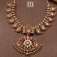 Jewelry Design Earrings, Gold Jewellery Design, Gold Jewelry, Necklace Designs, Ruby Jewelry, Gold Bangles, Jewelry Sets, Gold Rings, Jewelry Necklaces