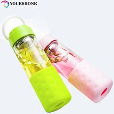 promo gfhgsd 520ml single layer of glass water bottle creative portable filter sports straight gift #infusion #tea