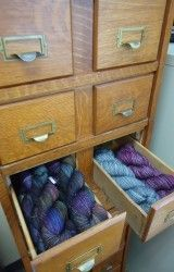 Yarn in old card catalog!  I bet I know someone who would go gaga over this!