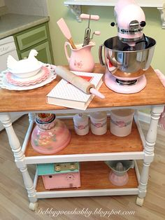 . : A Shabby Kitchen Cart & Mixer