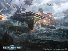 Illustrations of Thunder Fleet, the game we are developing and producting, Xiaoyu Wang on ArtStation at…