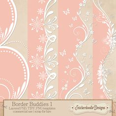 Border Buddies 1 {CU/S4H} by SnickerdoodleDesigns free until 28 Feb 2014 must register in store