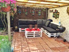 Meble ogrodowe z euro palet:)