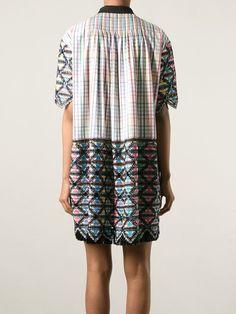 Marco De Vincenzo Panelled Checked Shirt Dress - Le Grand Bazar - Farfetch.com
