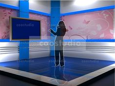Our Virtual Sets come in a variety of formats and work with a large number of products. virtual set volume 3 - This is a collection of virtual studio backgrounds,Is . Virtual Studio, Tv Decor, Communication, Action, Blue, Diy, Crafts, Do It Yourself, Bricolage