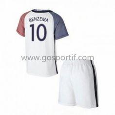 681f251393d87 maillot de foot équipe nationale enfant France 2016 Karim Benzema 10  maillot extérieur