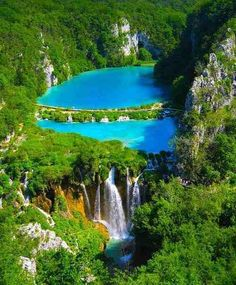 Beautiful blue lake,Plitvice National Park, Croatia  Maybe in this summer... :)