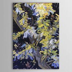 Famous Oil Painting Blossoming-acacia-branches by Van Gogh - WallArtBox