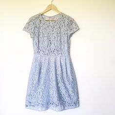 J.crew Alisa in leavers lace Grey Like new! Only worn once to a wedding. Size 8. In grey color. Retail for $275 J. Crew Dresses Midi