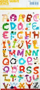 stickers alfabeto kawaii
