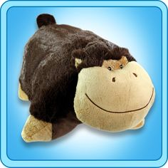 My Pillow Pet Silly Monkey, Brown, Multicolor Pillow Pets, Pet Monkey, Animal Jam, Large Pillows, Animal Pillows, Old Toys, Giraffe, Dogs And Puppies