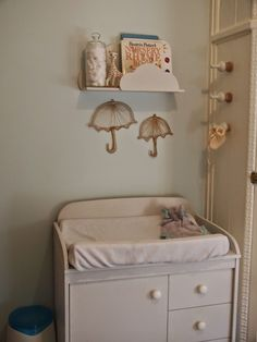 changing table- mint green and yellow nursery
