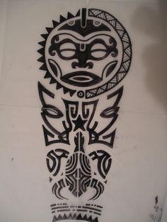 Circle Face tattoo (polynesian)