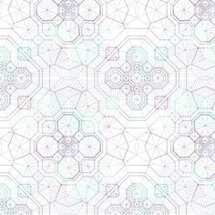 Structural Snowflake fabric by candyjoyce at Spoonflower - custom fabric, wallpaper and wall decals