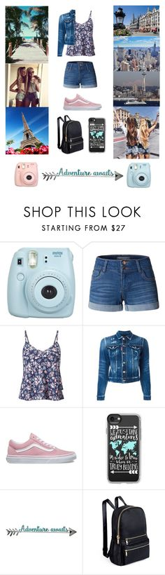 """""""Adventures & best friends💖🌉"""" by believer94 ❤ liked on Polyvore featuring Fujifilm, LE3NO, Miss Selfridge, Dsquared2, Vans, Casetify and Letter2Word"""