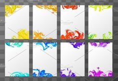 A4 blank sheets with paint splashes. Objects. $4.00