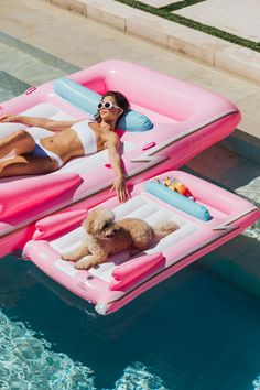 Funboy and Bark Dog Pool Floats Dog Pool Floats, Stock Tank Pool, Summer Pool, Pool Toys, Floating In Water, Water Toys, Cool Pools, Pool Designs, Swimming Pools