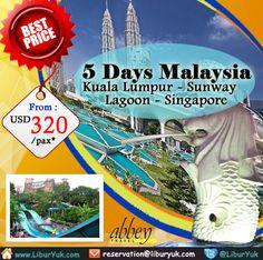Liburan sekolah telah tiba, Yuk habiskan liburan di #Sunway #Lagoon Malaysia + Singapore sekarang juga. Kini telah tersedia paket hemat 5 Hari #Malaysia – #Kuala #Lumpur – #Singapore + Sunway Lagoon dengan harga terjangkau.Buruan booking sebelum kehabisan!  Dapatkan Spesial Paket tersebut dari #LiburYuk http://liburyuk.com/listpackage/5+Days+Kuala+Lumpur+-+Singapore+%2B+Sunway+Lagoon #AbbeyTravel #jalan2 #holiday