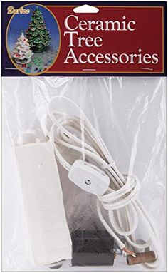 This package contains one complete replacement light kit including cord with on/off switch light bulb lamp and all necessary hardware. Ceramic Christmas Tree Lights, Christmas Lamp, Christmas Tree Star, Christmas String Lights, Christmas Decorations, Christmas Ideas, Tree Lamp, Indoor String Lights, Beaded Ornaments
