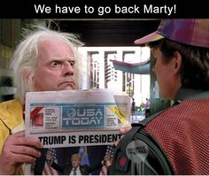 The Internet Reacts To Donald Trump Winning With Funny Memes 19 Pics amazing) Memes Humor, Humor Quotes, Best Funny Pictures, Funny Images, Funny Pics, Hilarious Memes, Funny Stuff, Donald Trump, Back To The Future