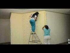 Como aplicar tecido em parede - YouTube Ps: Quero essa decoração no meu Quarto.