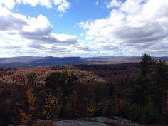 View from Clark Summit. Deering, NH. Looking across Hillsboro, Antrim, and Hancock, NH