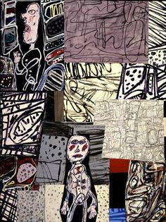 Jean Dubuffet (French best known for founding the art movement 'Art Brut' Tachisme, Jm Basquiat, Modern Art, Contemporary Art, Art Postal, Jean Dubuffet, Inspiration Artistique, Art Brut, Arte Popular