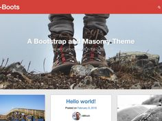 A simple, no-sidebar-ish, WordPress theme for your blog with a masonry homepage (like Pinterest), and a backstretch image for each page or post.