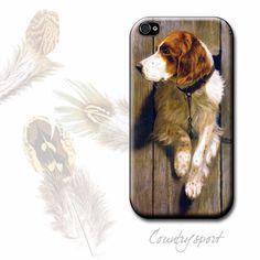 Phone Snap-on Cover - Brittany Spaniel Dog. $16.00, via Etsy.