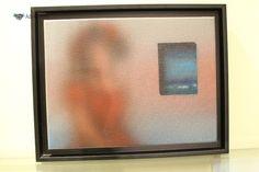 """Noronha da Costa óleo sobre tela assinada """"Feminino com janela"""" Noronha da Costa (n.1942) - Original - Pintura a óleo sobre tela, assinada (frente e verso), motivo feminino com janela emoldu..."""