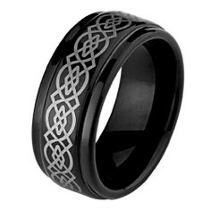 Valentines Day 8mm Celtic Design Laser Engraved Black Cobalt Free Tungsten Carbide COMFORT-FIT Wedding Band Ring for Men and Women (Size 7 to 13) The World Jewelry Center. $18.00. Promptly Packaged with Free Gift Box and Gift Bag. Tungsten has a tendency to break when hit with a hard material. scratch proof