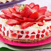 Il Bersaglio Marketing:    CHEESECAKE A FREDDO CON RICOTTA, FRAGOLE E CIOC... Dory, Cheesecake, Strawberry, Health Fitness, Fruit, Cooking, Desserts, Base, Nutella