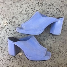 57527f8a06f51 Beautiful baby blue suede open toed shoes, such a beautiful - Depop Blue  Suede,