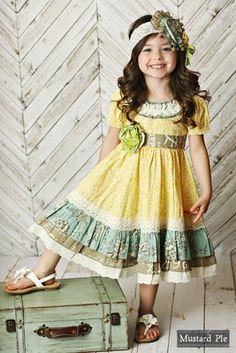 60b256fc138 Mustard Pie Girls Shangrila Butter Imogen Dress Toddler Dresses Boutique