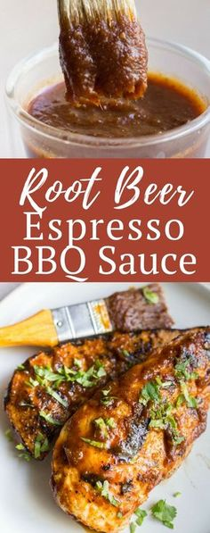 This Root Beer Espresso BBQ Sauce is the sauce you never knew you needed, but you\'ll never go without again. It has such a great, full bodied flavor full of sweet and spice - it\'s exactly the kind of sauce your next summer barbecue needs.