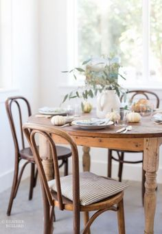 """farmhousetouches: Other dining chair idea """""""