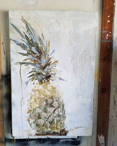 I found a subject I love to paint as much as elephants and VWs!  Abstracts are so satisfying but subject matter can be outright yummy if you find something that lights a fire I you.  Oh so fun!!! #pineapple #pineapplepainting #beachpainting #beachabstracts #coastalpalette #abstract #californiaartist #contemporaryart #caartist #interiordesign #design #kymdelosreyesart #originalart #artforsale  #artlife #hawaii #coronado #laguna #sandiego #sandiegoconnection #sdlocals #coronadolocals - posted…