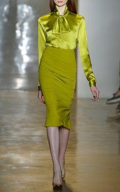 Silk Charmeuse Blouse by Cushnie et Ochs for Preorder on Moda Operandi
