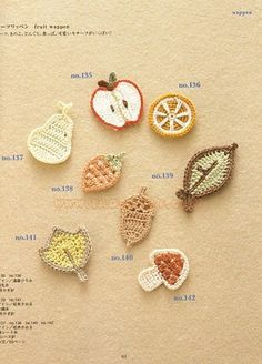 crocheted fruits