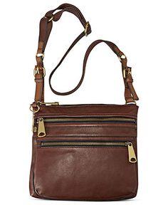 Fossil Handbag Explorer Leather Crossbody Handbags Accessories Macy S