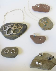 Handmade silver and enamel jewellery