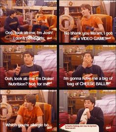 Drake and josh. My favorite show :) Funny Cat Memes, Funny Cartoons, Funny Posts, Hilarious, Funny Gifs, Memes Humor, It's Funny, Drake Und Josh, Movie Quotes