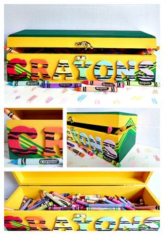 Kids Coloring Book and Crayons Storage Carrier | Kids | Pinterest ...
