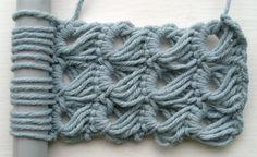 broomstick lace stitch!