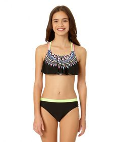 This Black Radical Studded Bikini - Girls is perfect! #zulilyfinds
