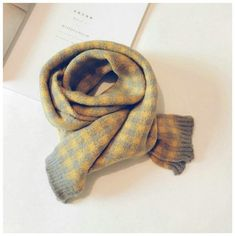 Korean Knit Wool scarfs for all occasions. Made of cotton material. Yellow Clothes, Air Force Blue, Head Accessories, Happy Colors, Wool Scarf, How To Wear, Bow, Yellow Outfits, Arch